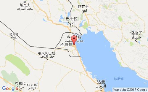 科威特港口地图图片