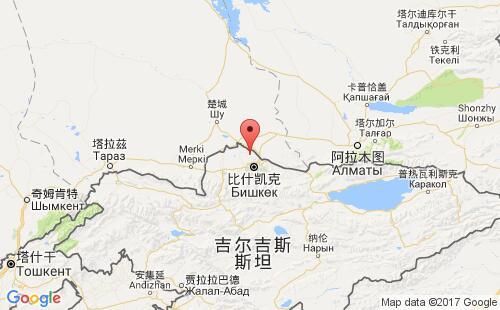 吉尔吉斯斯坦港口地图图片