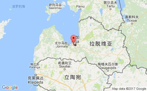 拉脱维亚港口地图图片