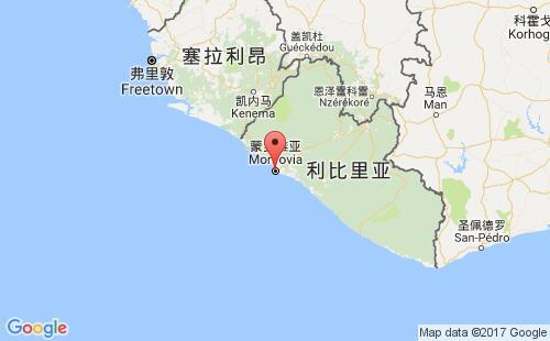 利比里亚港口地图图片