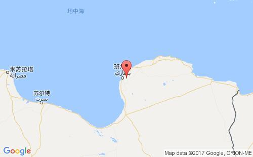 利比亚港口地图图片