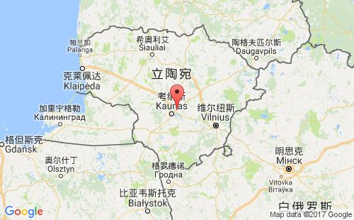 立陶宛港口地图图片