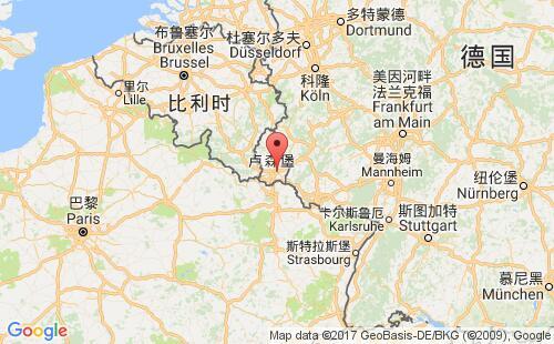 卢森堡港口地图图片
