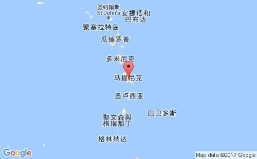 马提尼克港口地图图片