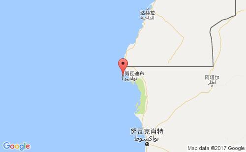 毛里塔尼亚港口地图图片