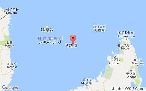 马约特港口地图图片