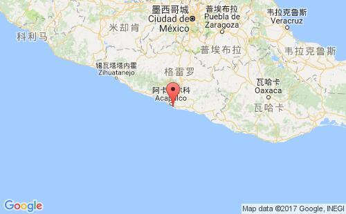 墨西哥港口地图图片