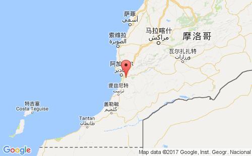 摩洛哥港口地图图片