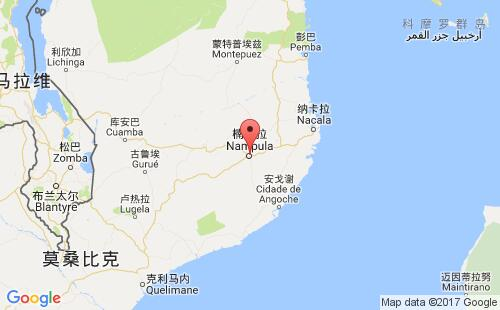 莫桑比克港口地图图片