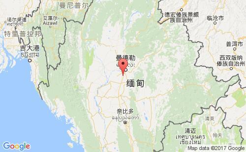 缅甸港口地图图片