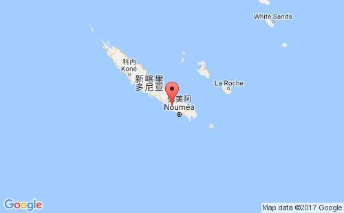 新喀里多尼亚港口地图图片
