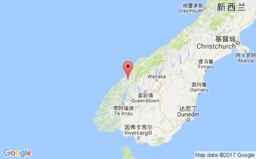新西兰港口地图图片