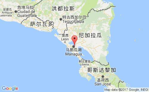 尼加拉瓜港口地图图片