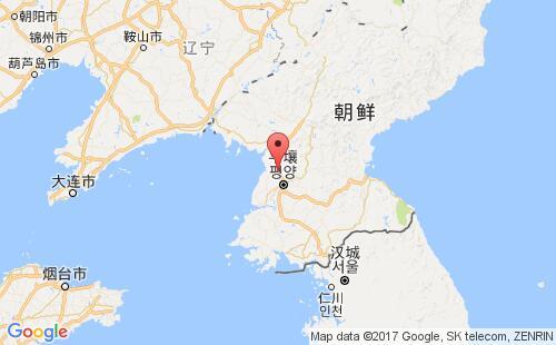 朝鲜港口地图图片