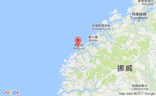 挪威港口地图图片
