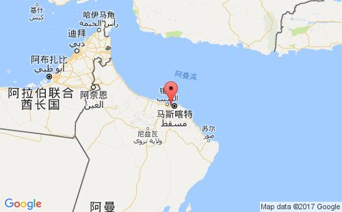 阿曼港口地图图片