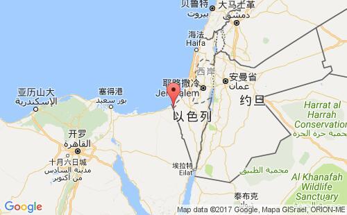 巴勒斯坦港口地图图片