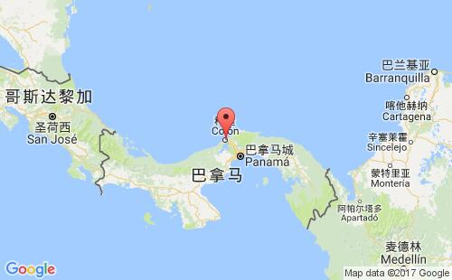 巴拿马港口地图图片