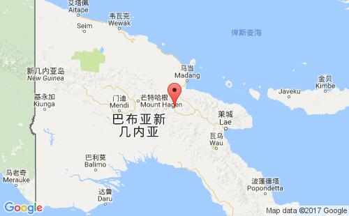 巴布亚新几内亚港口地图图片