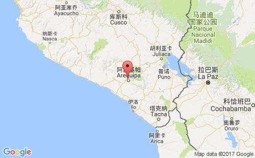 秘鲁港口地图图片