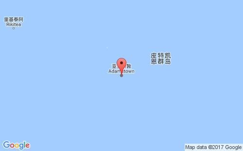皮特凯恩岛港口地图图片