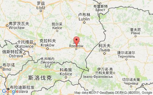 波兰港口地图图片