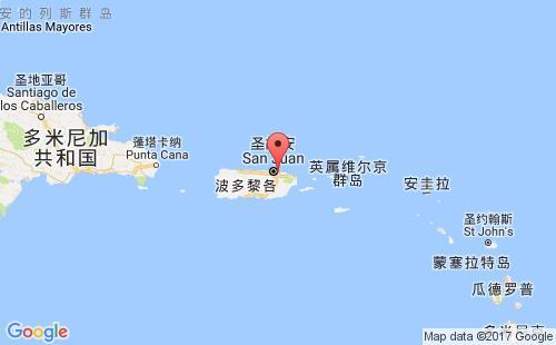 波多黎各港口地图图片