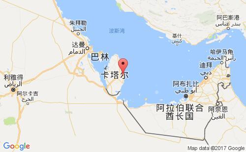 卡塔尔港口地图图片