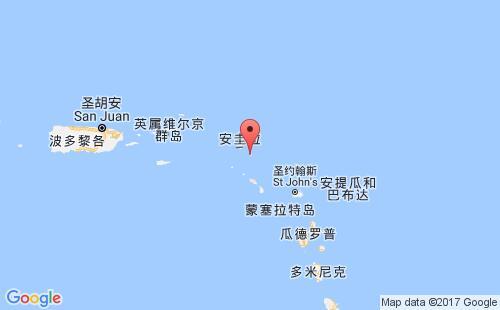 圣巴泰勒米岛港口地图图片