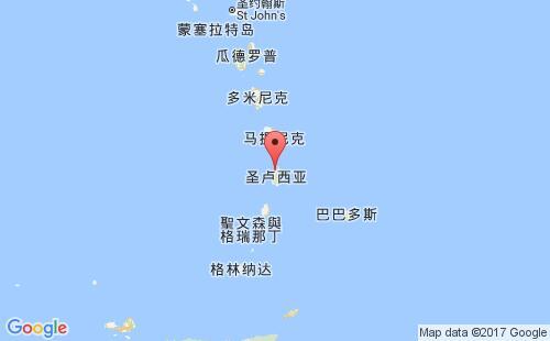圣卢西亚港口地图图片