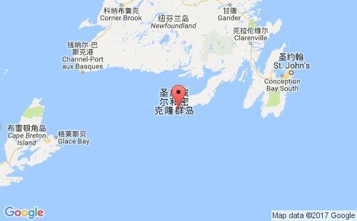圣皮埃尔和密克隆群岛港口地图图片