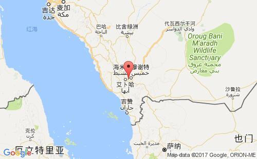 沙特阿拉伯港口地图图片