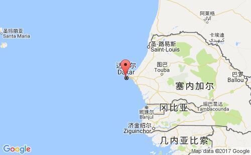 塞内加尔港口地图图片