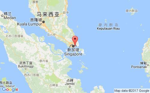 新加坡港口地图图片
