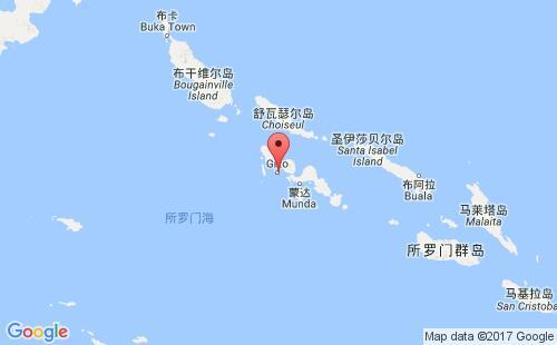 所罗门群岛港口地图图片