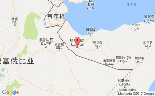 索马里港口地图图片