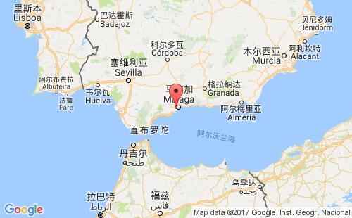 西班牙港口地图图片