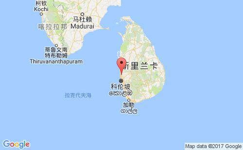 斯里兰卡港口地图图片
