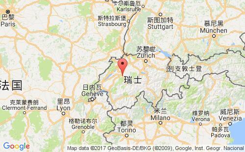 瑞士港口地图图片