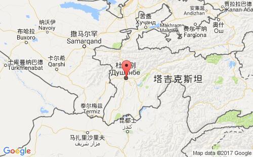 塔吉克斯坦港口地图图片