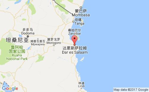 坦桑尼亚港口地图图片