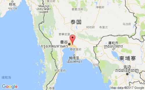 泰国港口地图图片