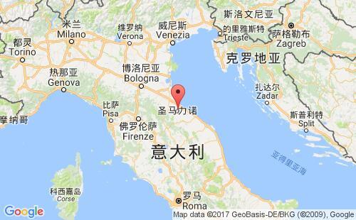 圣马力诺港口地图图片