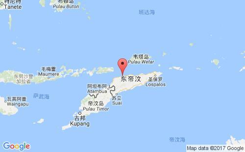 东帝汶港口地图图片