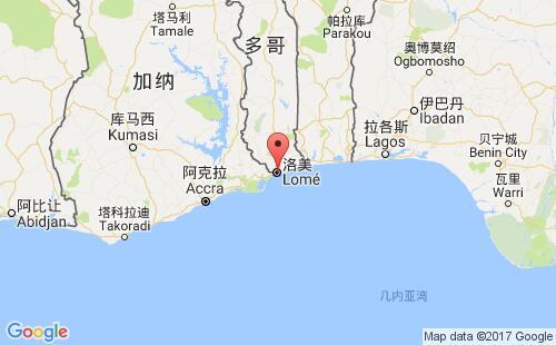 多哥港口地图图片