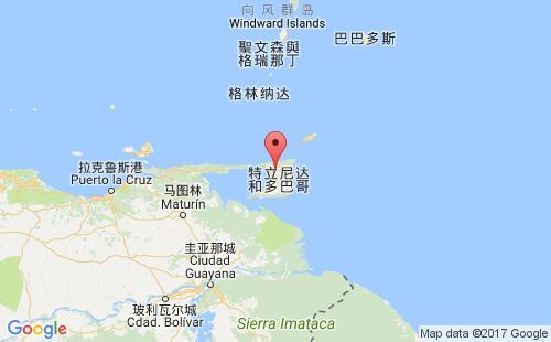 特立尼达和多巴哥港口地图图片