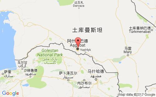 土库曼斯坦港口地图图片