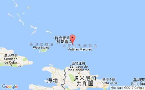 特克斯和凯科斯群岛港口地图图片