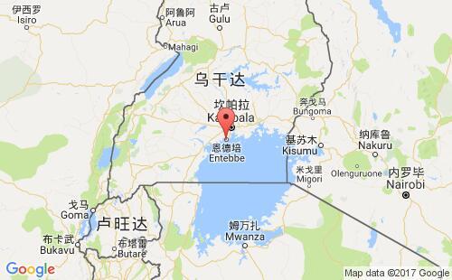 乌干达港口地图图片