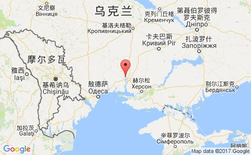 乌克兰港口地图图片